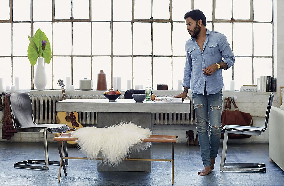 Chairs from CB2 and Kravitz Design by Lenny Kravitz