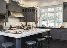 Charcoal gray is a popular choice in contemporary kitchens 217x155 50 Gorgeous Gray Kitchens That Usher in Trendy Refinement