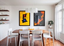 Cheerful-dining-room-in-white-with-Logico-pendant-and-framed-posters-217x155