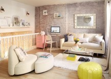 Chic Scandinavian living room with a feminine vibe