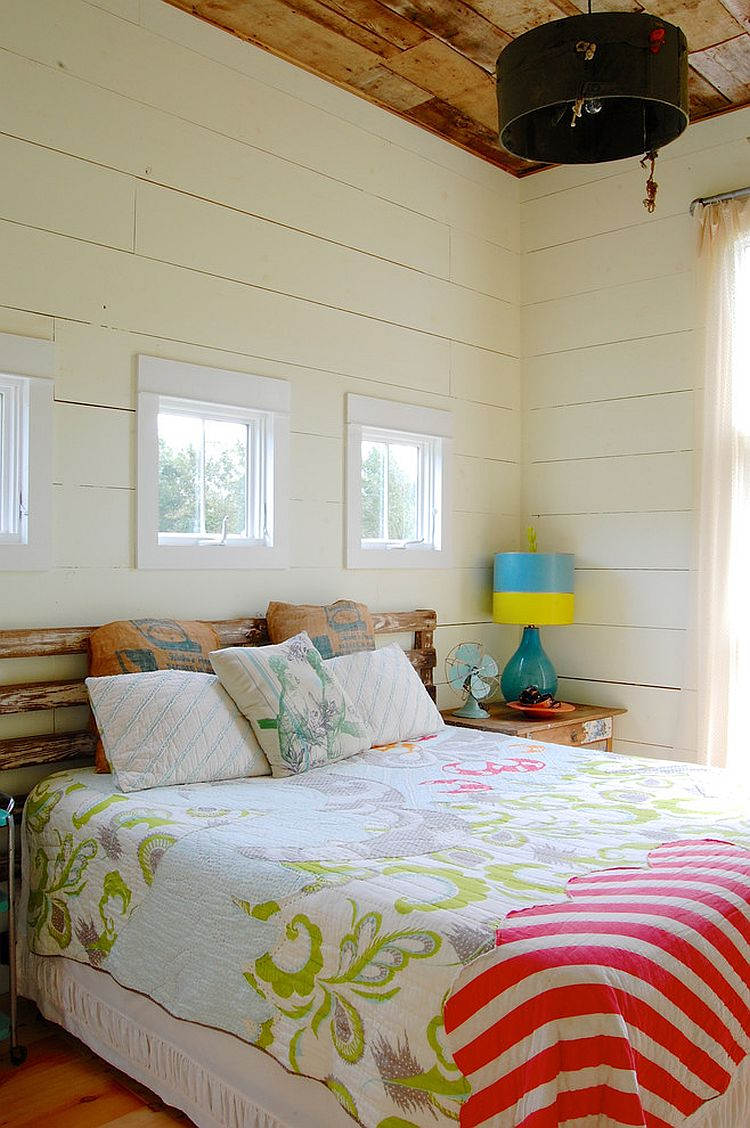 Chic modern farmhouse bedroom with colorful vintage finds [Photography: Corynne Pless]