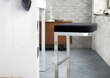 Chrome bar stool by CB2 and Kravitz Design 217x155 High End Bar Stools and Other Fall Trends