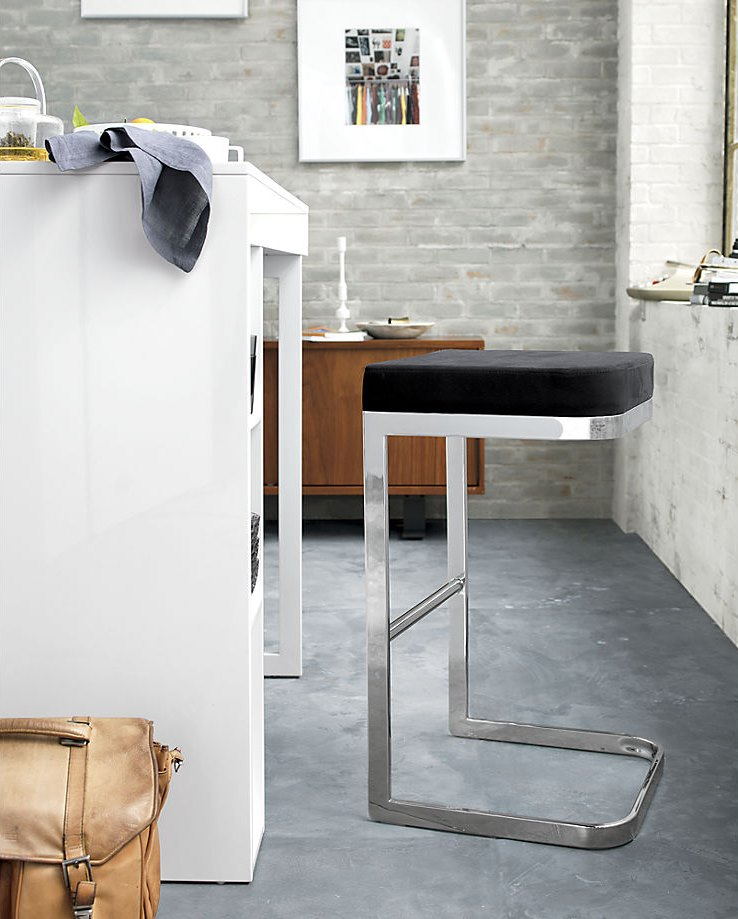 Chrome bar stool by CB2 and Kravitz Design