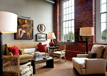 modern living rooms with an accent brick wall are currently a hot trend that does not seem to fade away if you happen to live in an apartment - Brick Design Wall