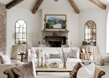 Classy-chaise-lounge-and-wooden-beams-inside-the-lovely-living-room-217x155