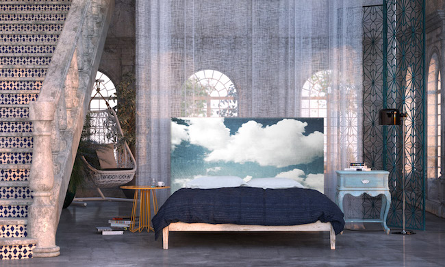 Cloud headboard by Astrid Oyo