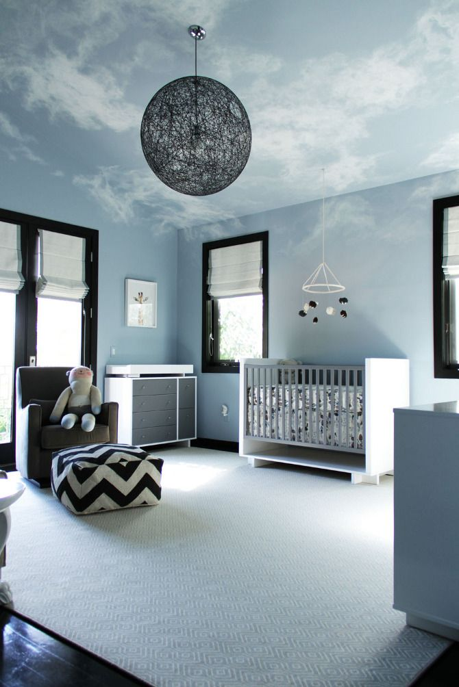 Cloud-themed nursery