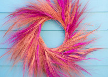 Colorful wheat wreath from A Subtle Revelry