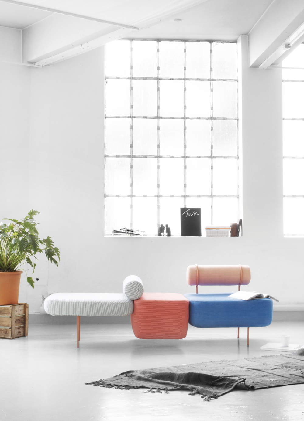 Colourful Hoff modular sofa