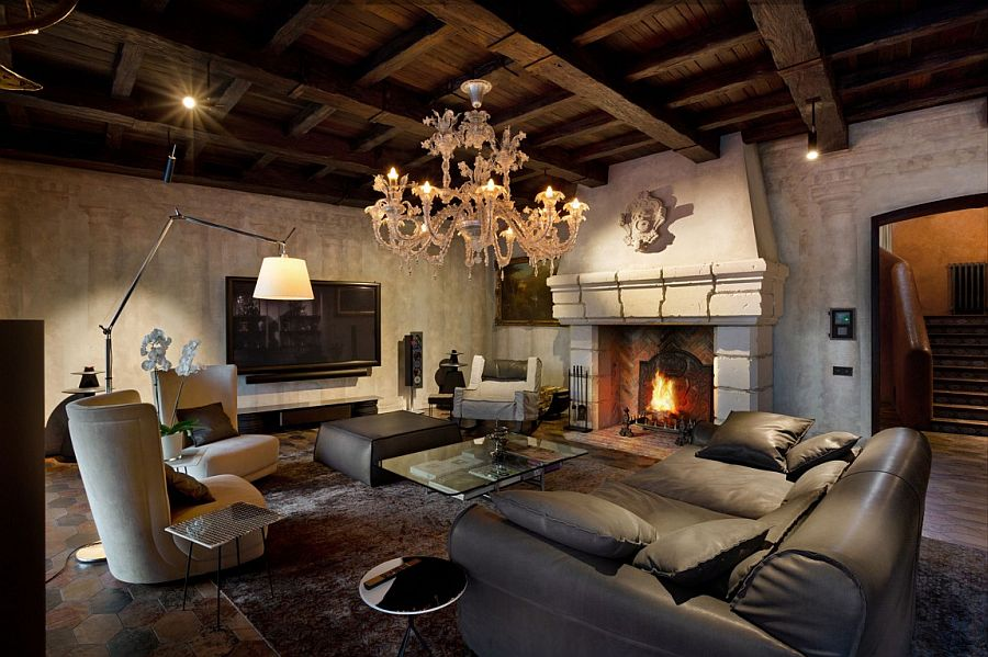 Comfy contemporary decor sits next to vintage pieces and rare antiques insise Residence BO
