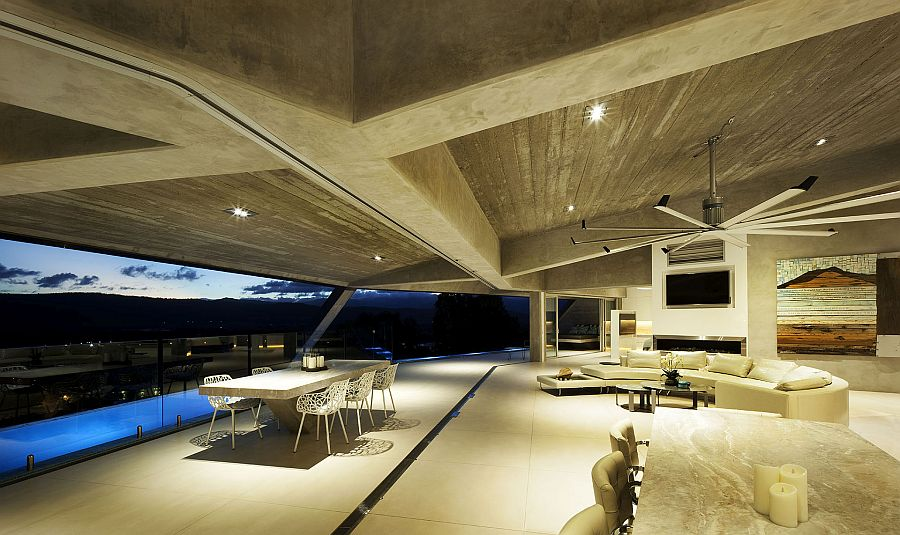 Concrete plays a major role in keeping the spectacular home cool on hot Queensland days
