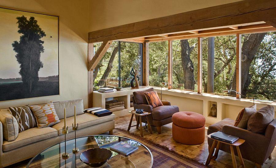 Contemporary decor brings luxury to the Big Sur Cabin
