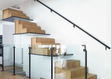 Contemporary floating staircase that is not for the faint of heart