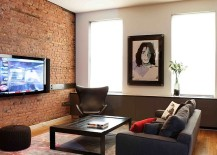 Modern Living Rooms With An Accent Brick Wall Are Currently A Hot Trend That Does Not Seem To Fade Away If You Happen Live In Apartment