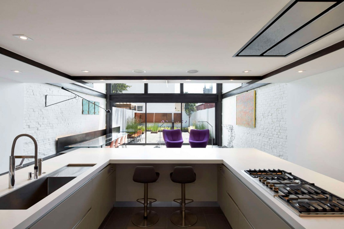 Cook's kitchen becomes the focal point of the renovated interior