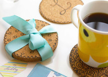 Cork board repurposed as coasters 217x155 8 DIY Projects to Dress Up Your Cork Boards