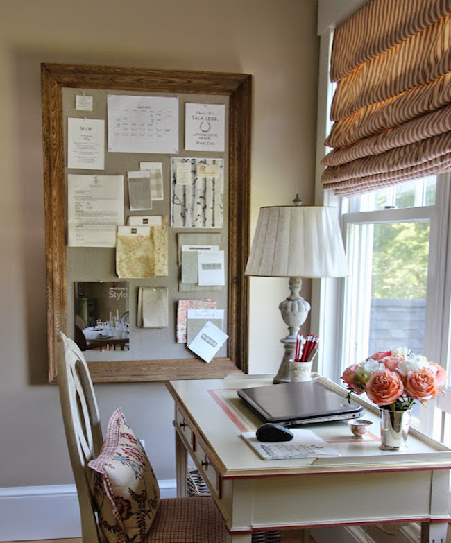 Cork board with beautiful wood frame