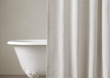 Cotton-linen shower curtain from Restoration Hardware
