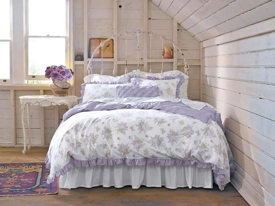 50 delightfully stylish and soothing shabby chic bedrooms for Bed styles images