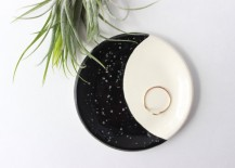 Crescent moon ring dish from Etsy shop Quiet Clementine