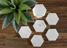 DIY hexagon coasters from Lime & Mortar