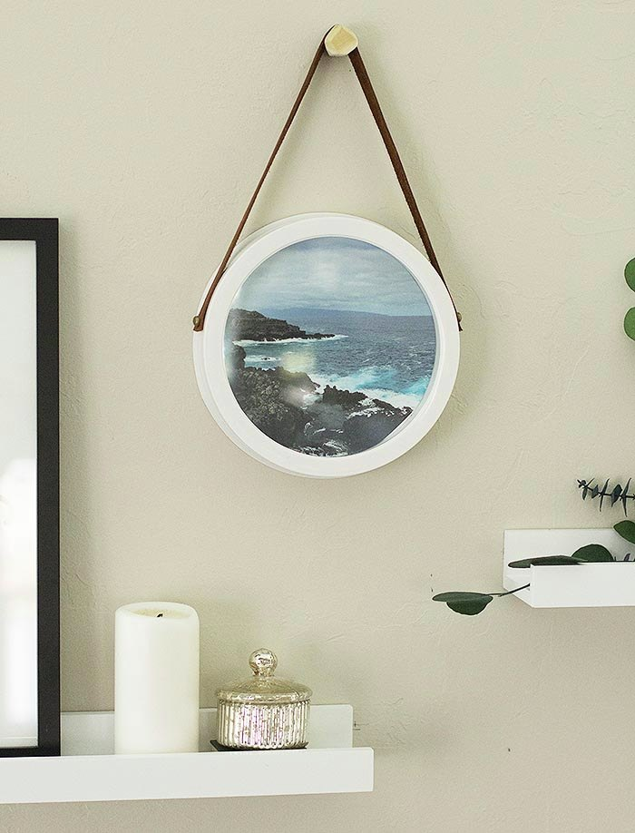 DIY upcycled clock frame from Design Sponge