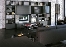 Dark and light elements work beautifully together in this living space