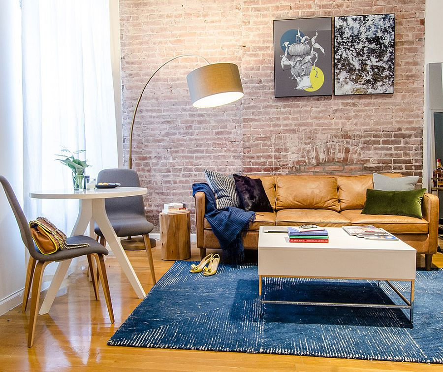 Modern Living Rooms: 100 Brick Wall Living Rooms That Inspire Your Design