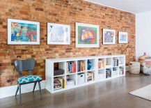 Decorate the living room brick wall with modernity