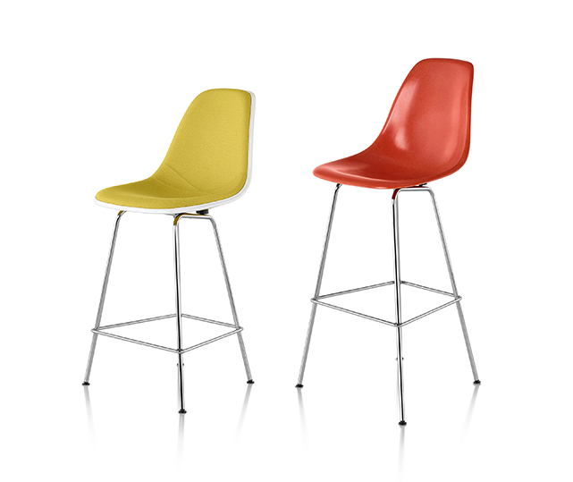 Eames counter and bar height stools