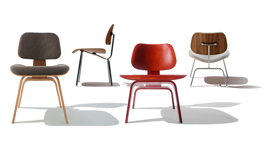 Eames moulded plywood chairs