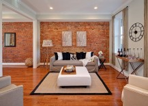 Eclectic-living-room-with-masterful-use-of-the-brick-accent-wall-217x155