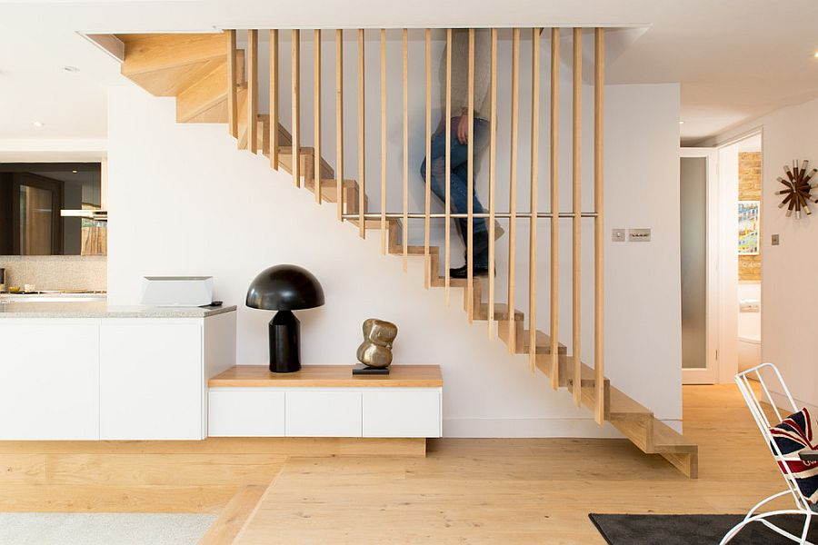 Elegant contemporary staircase with Scandinavian flair