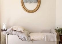 Elegant kids' bedroom with cloud wall art piece