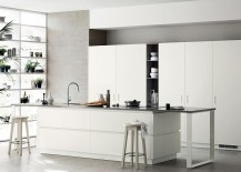 Elegant kitchen shelf composition for the modern home