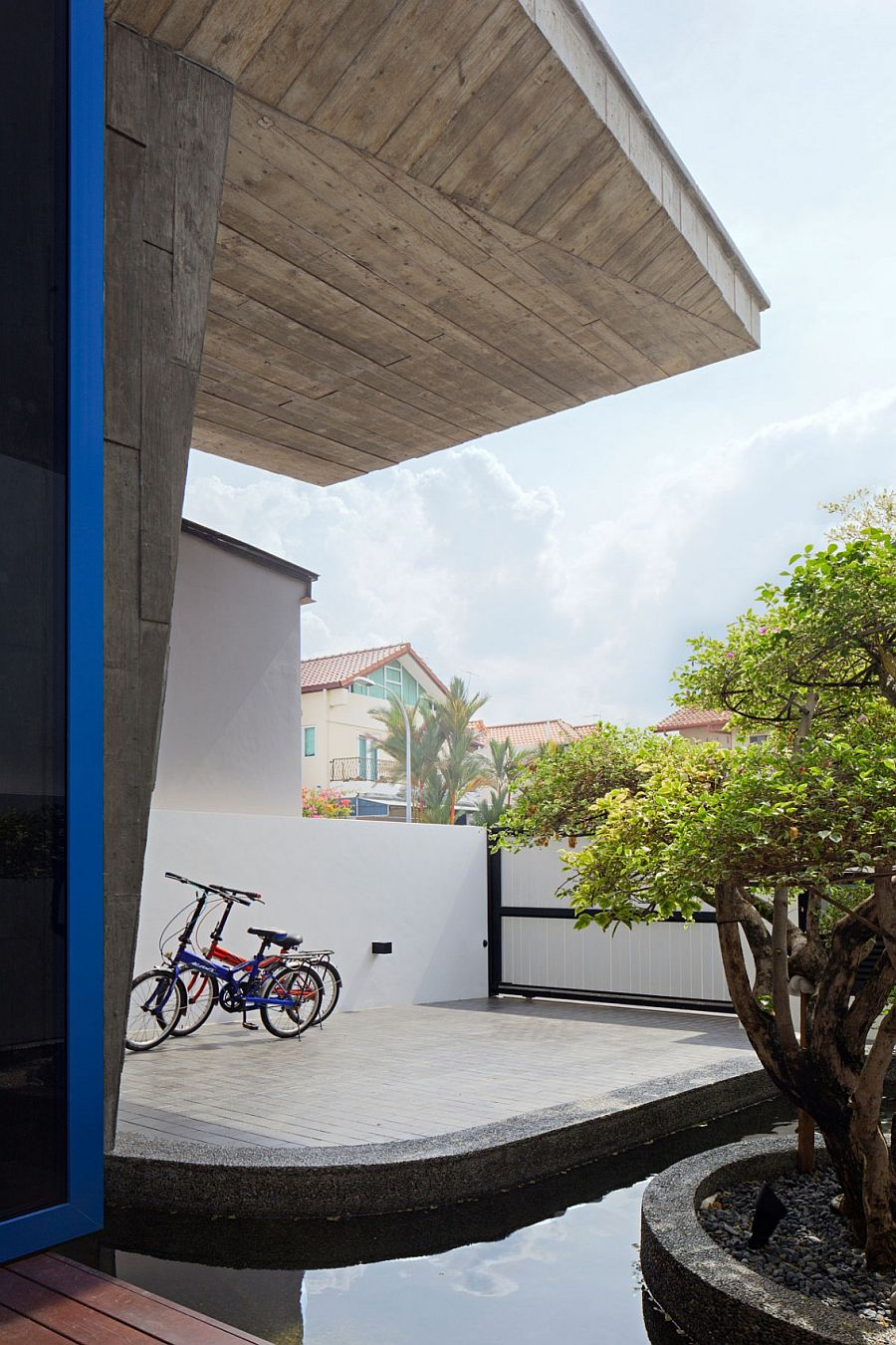 Entrance to the House at poh Huat Road is simple and unassuming