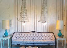 Exclusive vintage lighting crafted from old fish nets