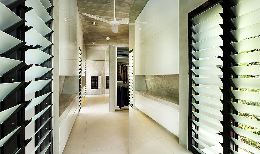 Exquisite and exclusive walk-in wardrobe at the Edge