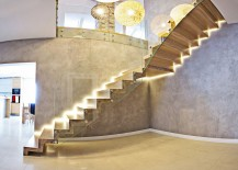 Exquisite contemporary staircase that is all about stunning lighting