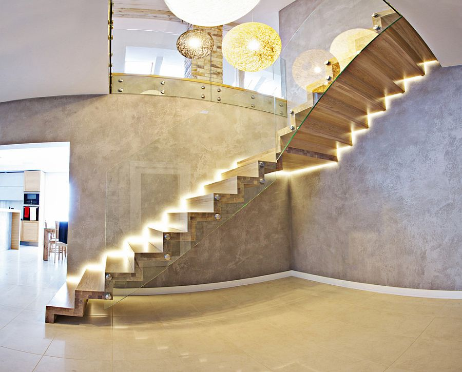 Exquisite contemporary staircase that is all about stunning lighting [Design: Treppen & Bauelemente Schmidt]