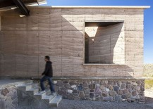 Exterior of the eco-friendly home gains style, hue and texture from the landscape around it
