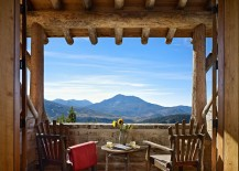 Fabulous little deck fits in perfectly with the classic Montana mountain lifestyle