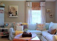 Farmhouse living room with vintage furniture [From: Sara Bates]