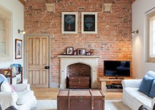 As We Alluded To Earlier There Are Plenty Of Styles That Work Well With The Brick Wall In Living Room But It Is Effervescent And Functional