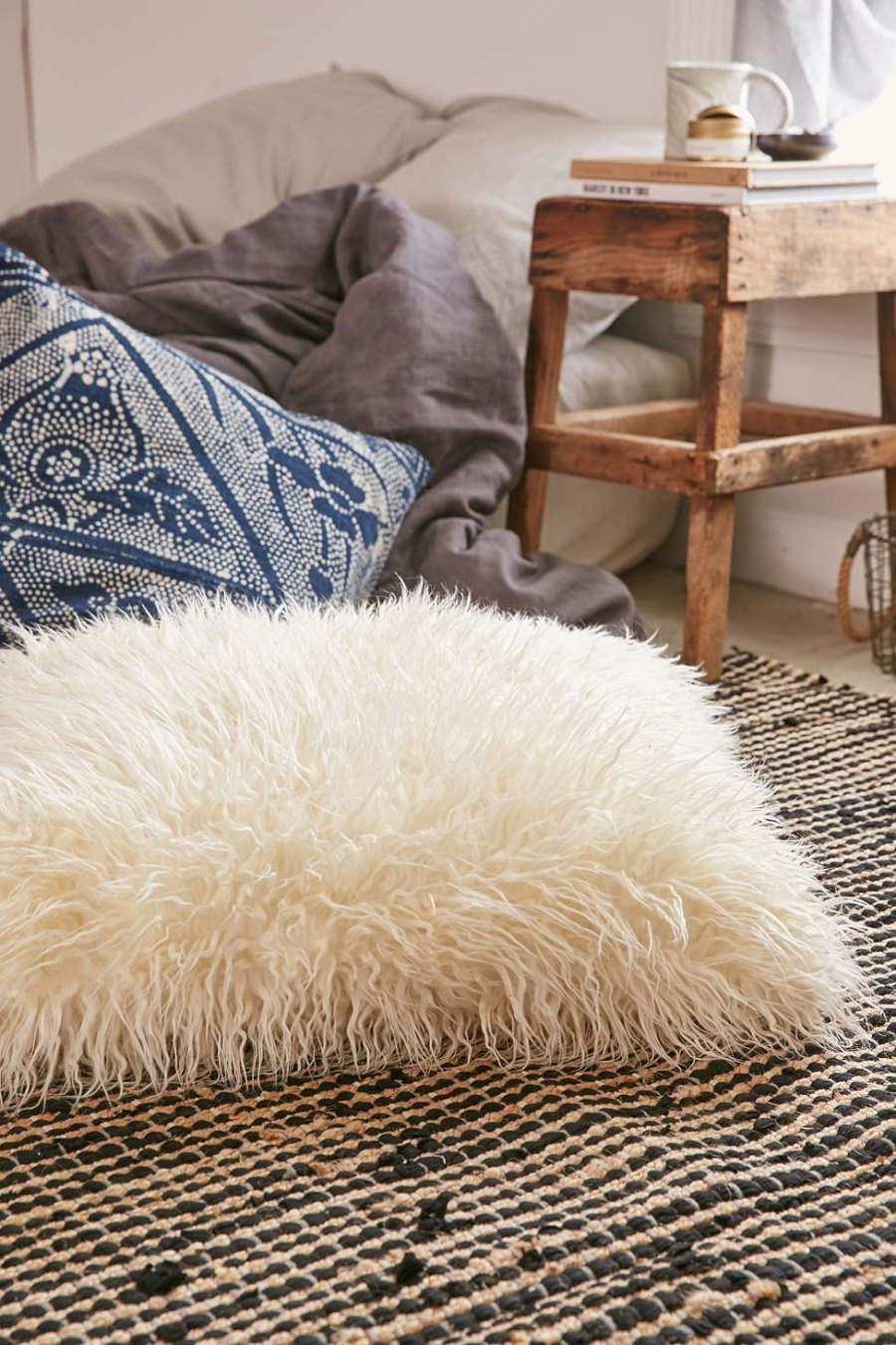 Faux fur pillow from Urban Outfitters