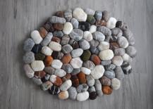 Felt stone rug bath mat by FlussDesign on Etsy 217x155 7 Bath Mat Ideas to Make Your Bathroom Feel More Like a Spa