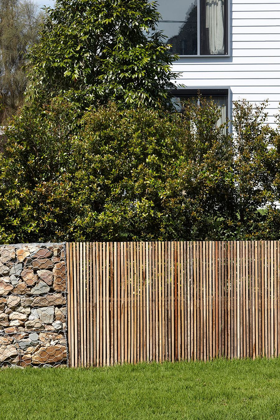 Fence around the house seems rustic and modest
