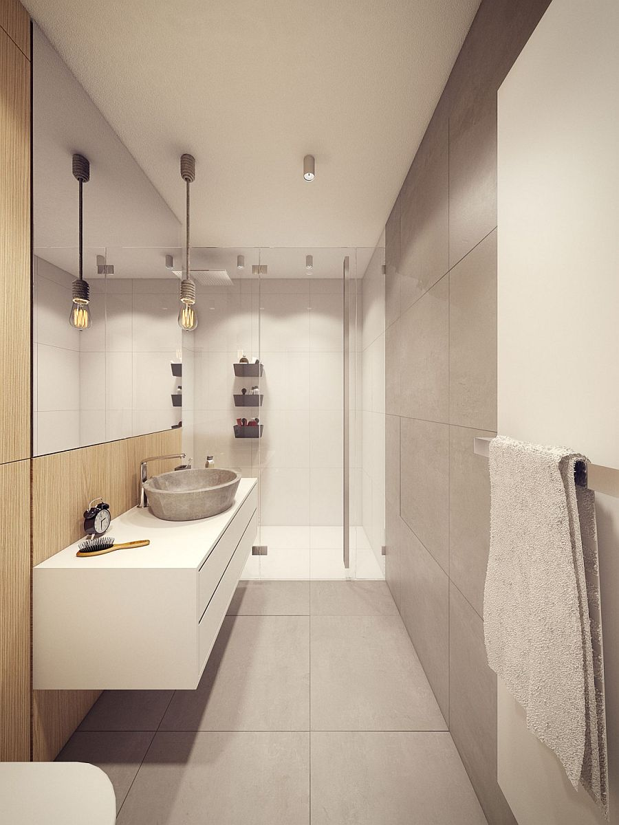 Small Bathroom Storage Wall
