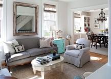 Flood of natural light enlivens the white living room[Design: ThinkMakeBuild]