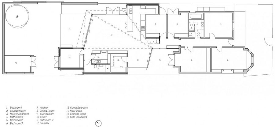 Floor plan of the Fitzroy House after renovation